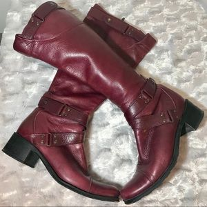 Kenneth Cole beautiful red leather boots. 7.5. M
